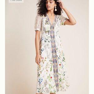Anthropologie Geisha Designs Floral Dress